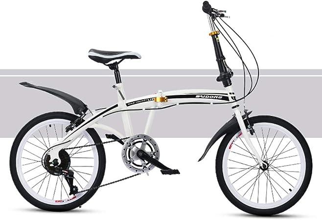 ZLBZBB Bicicleta Plegable, Entrenamiento para Bajar de Peso Ciclismo Urbano Carretera Nacional Bicicleta de 20 Pulgadas de Velocidad Variable Bicicleta de Adulto Estudiante: Amazon.es: Hogar