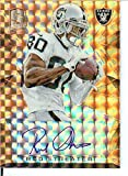 Football NFL 2015 Spectra Signatures Neon Orange #33 Rod Streater Auto 1/3 Raiders