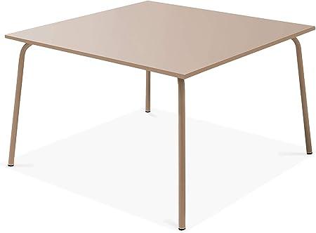 Oviala Table de Jardin carrée en métal, Palavas: Amazon.fr ...