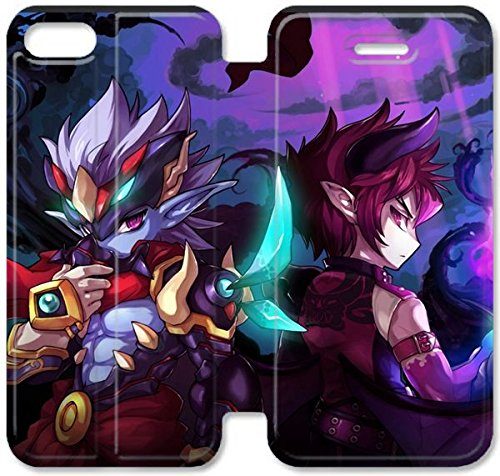 Coque iPhone 5C Coque Cuir, Klreng Walatina® 5C PU Cuir de portefeuille Coque Design By Mmorpg sud-coréen Grand Chase Z6L7Up