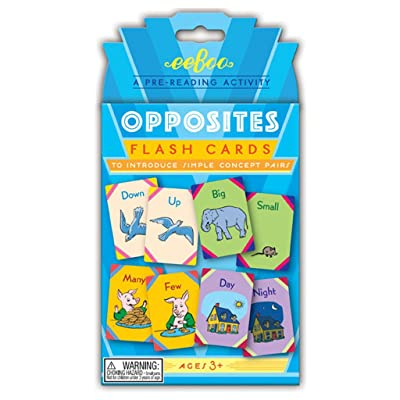 eeBoo Opposites Flash Cards: Toys & Games