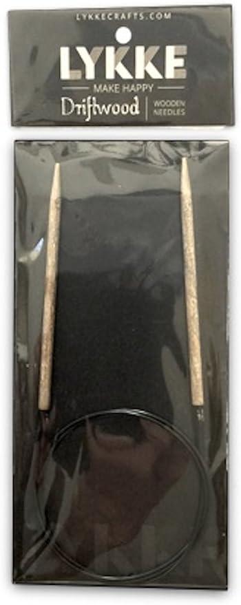 :Driftwood Circular Needles: 1.5 US 16 in Lykke
