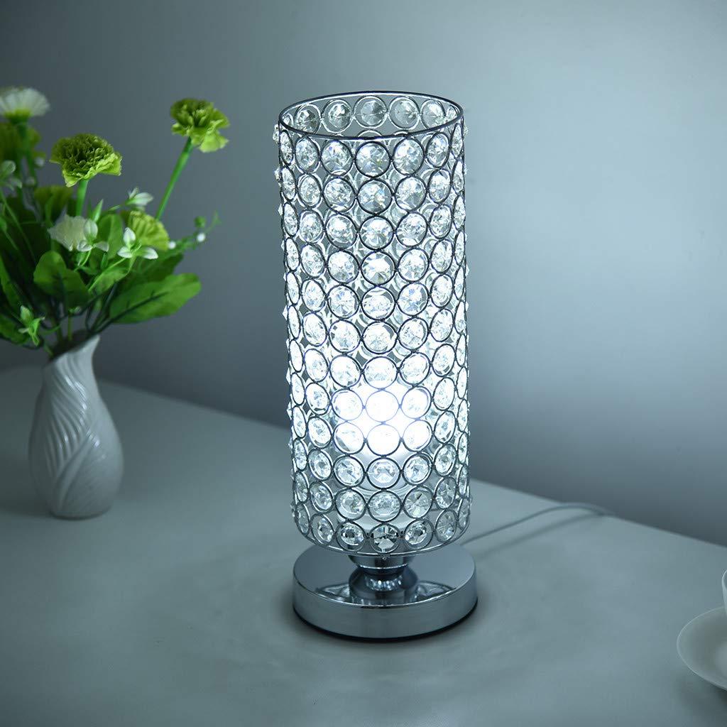 Amazon.com: Lámpara de mesa de cristal Islandse para ...