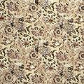 Lee Jofa SUZANNE RHEINSTEINHOLLYHOCK WOODCUT BRONZE/GARNET Fabric