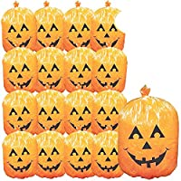 THE TWIDDLERS 25 Pack Halloween Leaf Bags - Ideal for Halloween Parties, Decoration - Halloween Decor & Props