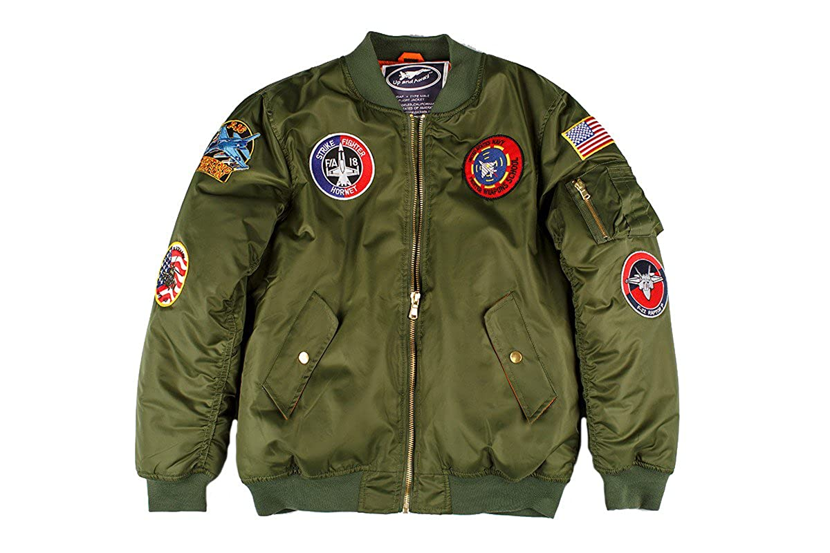 Amazon.com  Up and Away Adult MA-1 Flight Jacket  Clothing 838c950f16