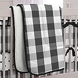 Carousel Designs Black Buffalo Check Crib Comforter
