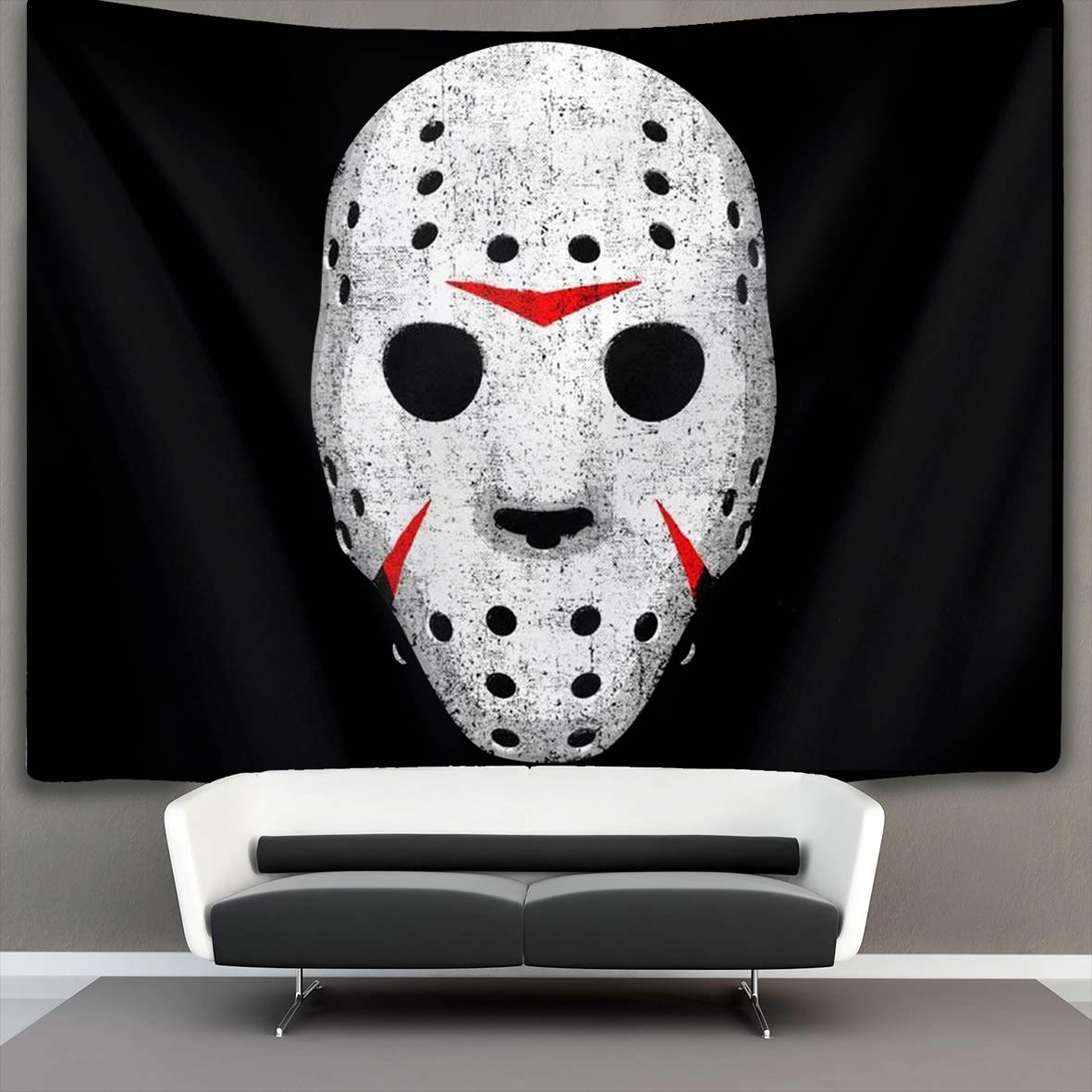 Horror Movie Maniac Wall Tapestry Hippie Art Tapestry Wall Hanging Home Decor Extra Large tablecloths 50x60 inches for Bedroom Living Room Dorm Room