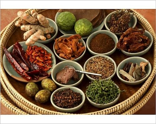 10x8 Print of Spices used in Thai food, Thailand, Southeast Asia, Asia (5061346) by Robert Harding