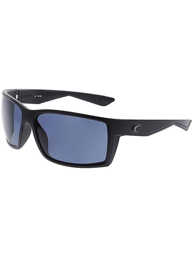 ad4b7491fc29d Amazon.com  Costa Del Mar Reefton Sunglasses Blackout   Blue Mirror  580Plastic  Costa Del Mar  Sports   Outdoors