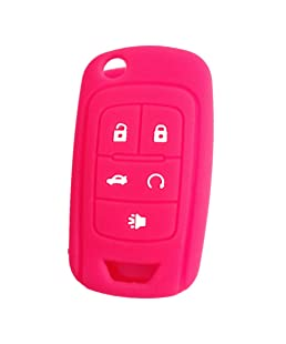 New Peachblow 5 Buttons Silicone Cover Holder Key Jacket for Chevrolet Camaro Cruze Volt Equinox Spark Malibu Sonic Flip Remote Key Case Shell Cover