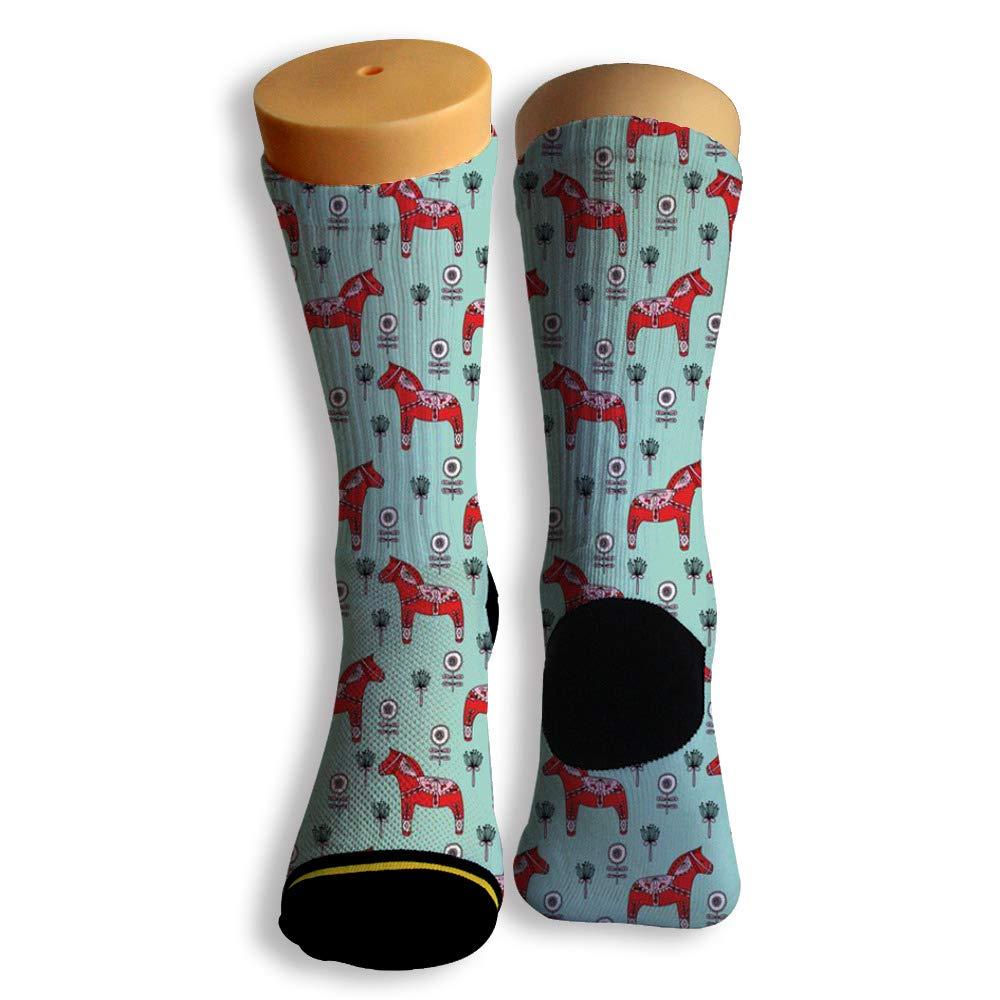Basketball Soccer Baseball Socks by Potooy Horse Portrait Graffiti 3D Print Cushion Athletic Crew Socks for Men Women