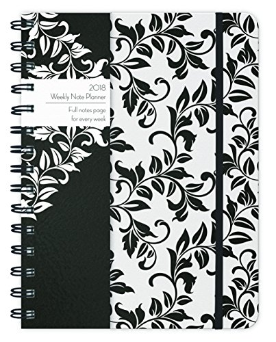 Black & White Swirls 2018 Weekly Note Planner