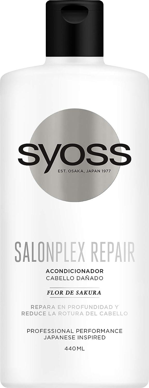 Syoss - Acondicionador SalonPlex, 440 ml, Para cabellos dañados, Repara en profundidad y reduce la rotura del cabello, Cabello como recién salido de la peluquería