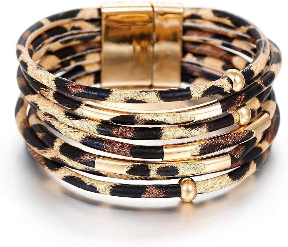Free Shipping Beige to dark brown bracelet Double color cuff bracelet Leather bracelet