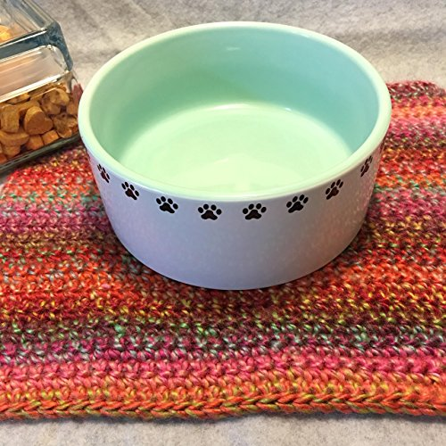 Pet Dish Mat, Tea Mat, Basket Stuffing, Photo Prop, Bump Blanket, Crochet by Made By Tricia