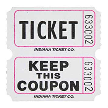 AmazonCom Raffle Tickets White  Per Roll  Fun Fair Toys