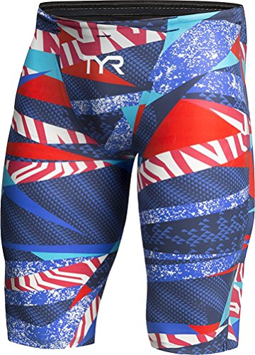 TYR avictor Prelude Men's Short Red White Blue Size 23 by TYR