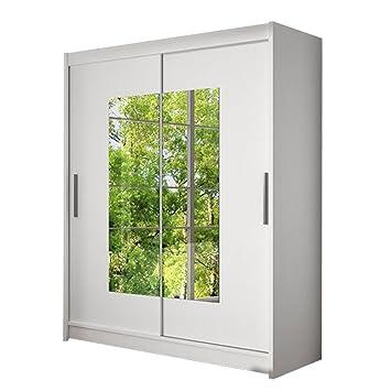 Schwebetürenschrank Westa III Kleiderschrank Mit Spiegel, Modernes  Schlafzimmerschrank, Schiebetürenschrank, Garderobe, Schlafzimmer (