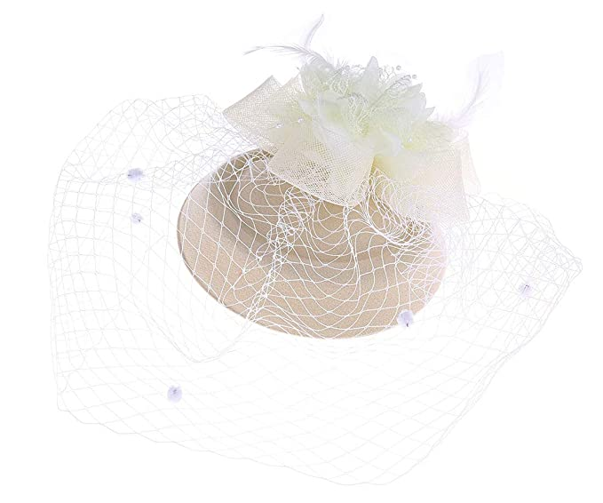 Coolr Fascinators Hair Clip Headband Pillbox Hat Bowler Feather Flower Veil  Wedding Party Hat