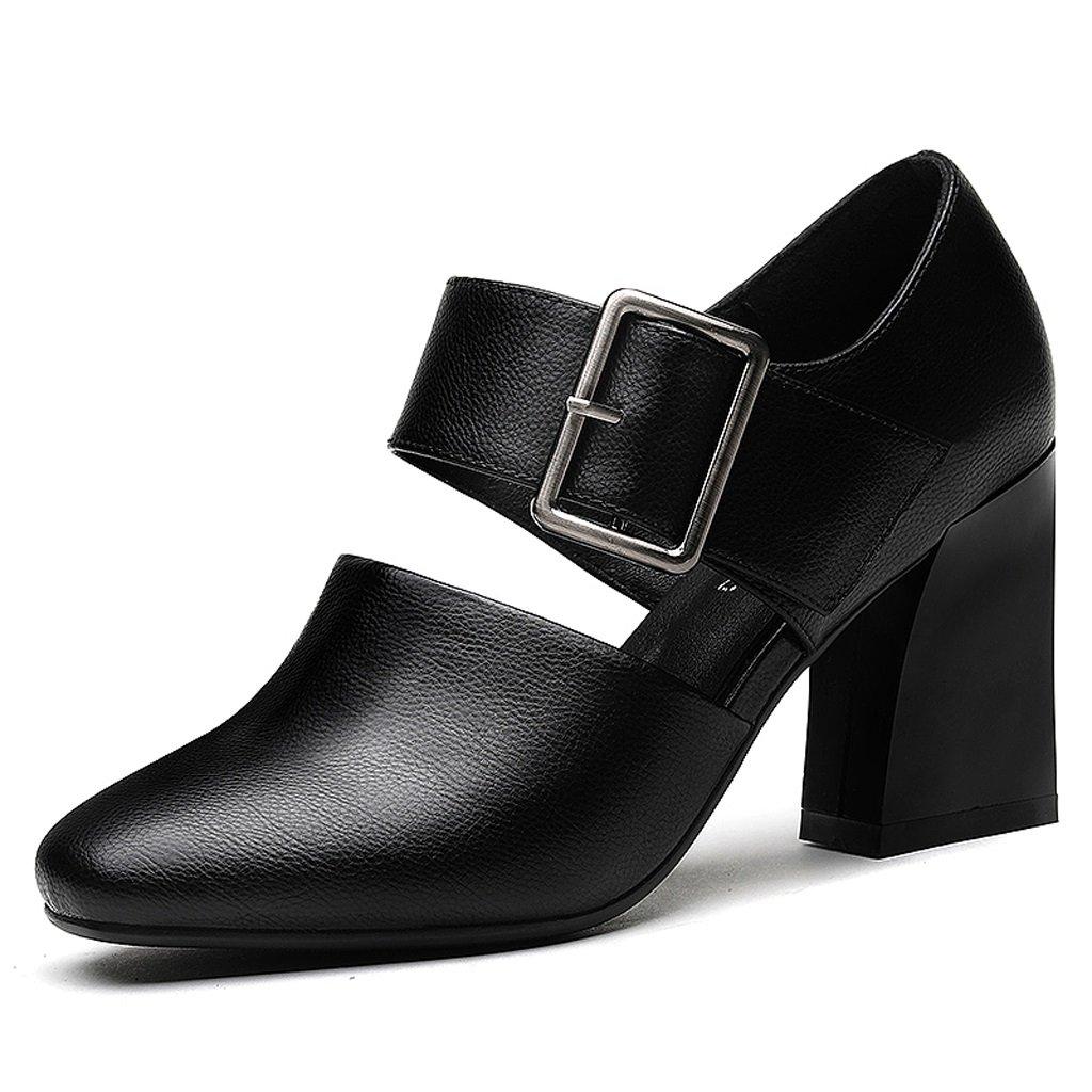 女性のハイヒールサンダル潮の靴春と秋 US:6.5\UK:5.5\EUR:38 ブラック 666666 B076DFHPZZ  ブラック US:6.5\\UK:5.5\\EUR:38