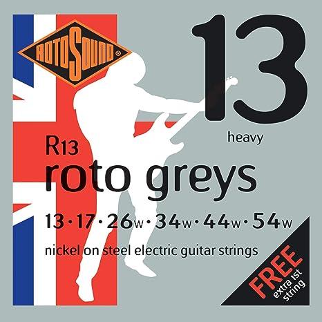 Rotosound R13 - Juego de cuerdas para guitarra eléctrica de níquel, 13 17 26 34
