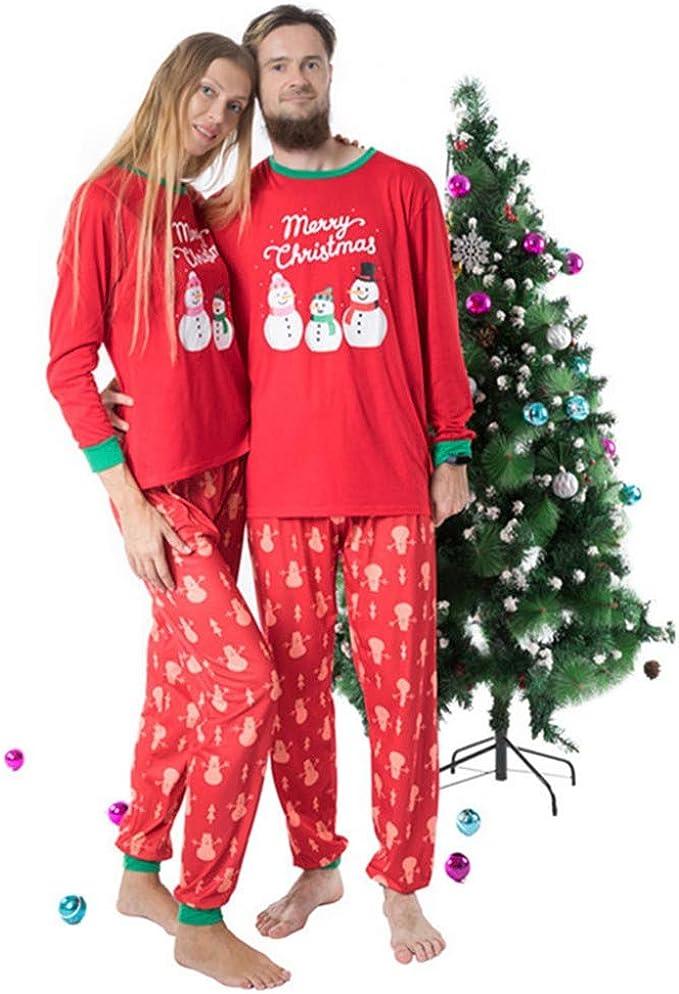 Family Matching Christmas Pajamas Set Men/'s Women Kids Print Sleepwear Nightwear
