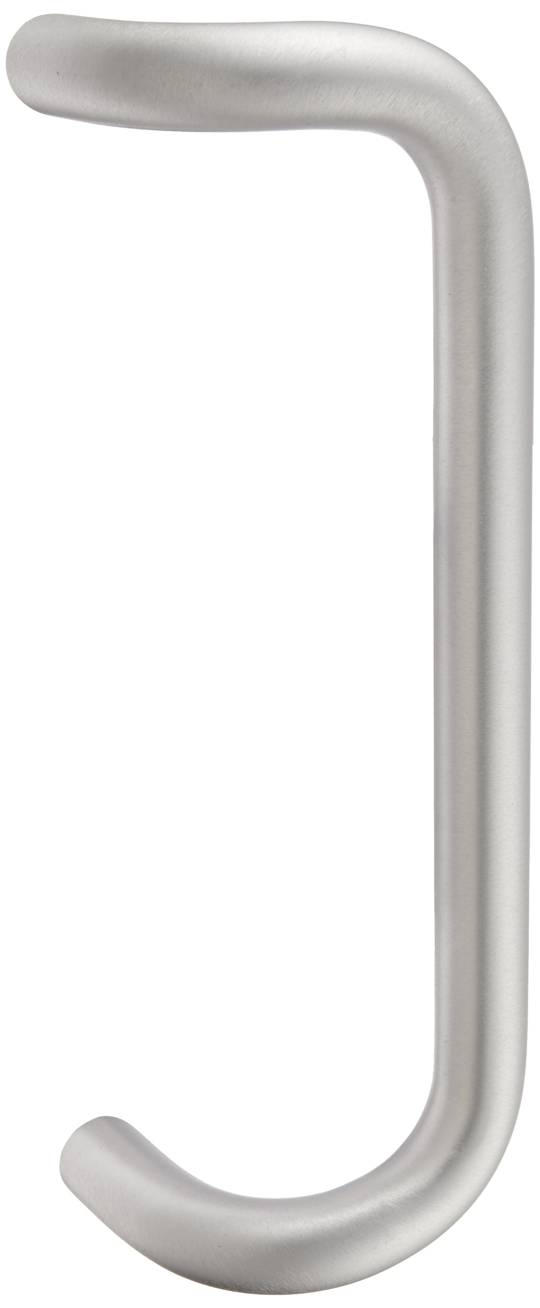 Rockwood BF158.28 Aluminum 90-Degree Offset Door Pull, 1'' Diameter x 12'' Center-to-Center, Through Bolt Mounting for 1-3/4'' Door, Clear Anodized Finish