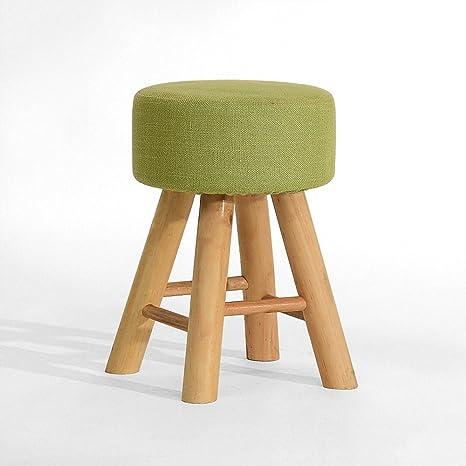 Amazon.com: PM-Footstools Taburete de madera maciza ...