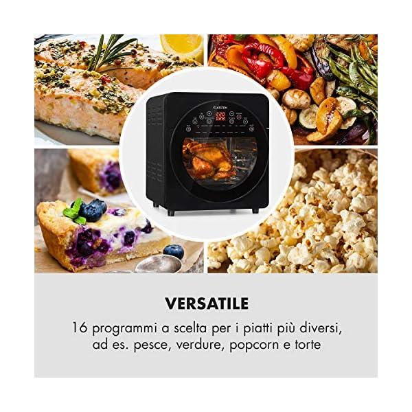 KLARSTEIN AeroVital Easy Touch - Friggitrice ad Aria Calda, Forno ad Aria Calda, Mini Forno, 1700W, XXL: 14L, 16… 6