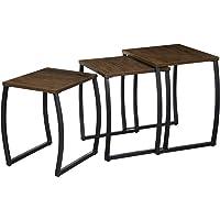 Roolee - Juego de 3 mesas auxiliares, mesa