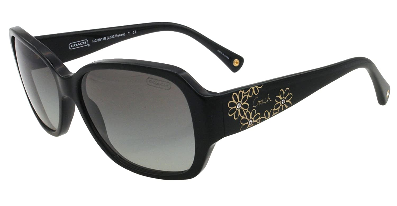 3c7b6ef22128b Coach Sunglasses HC 8011B 5002 11 BLACK REESE  Amazon.co.uk  Clothing