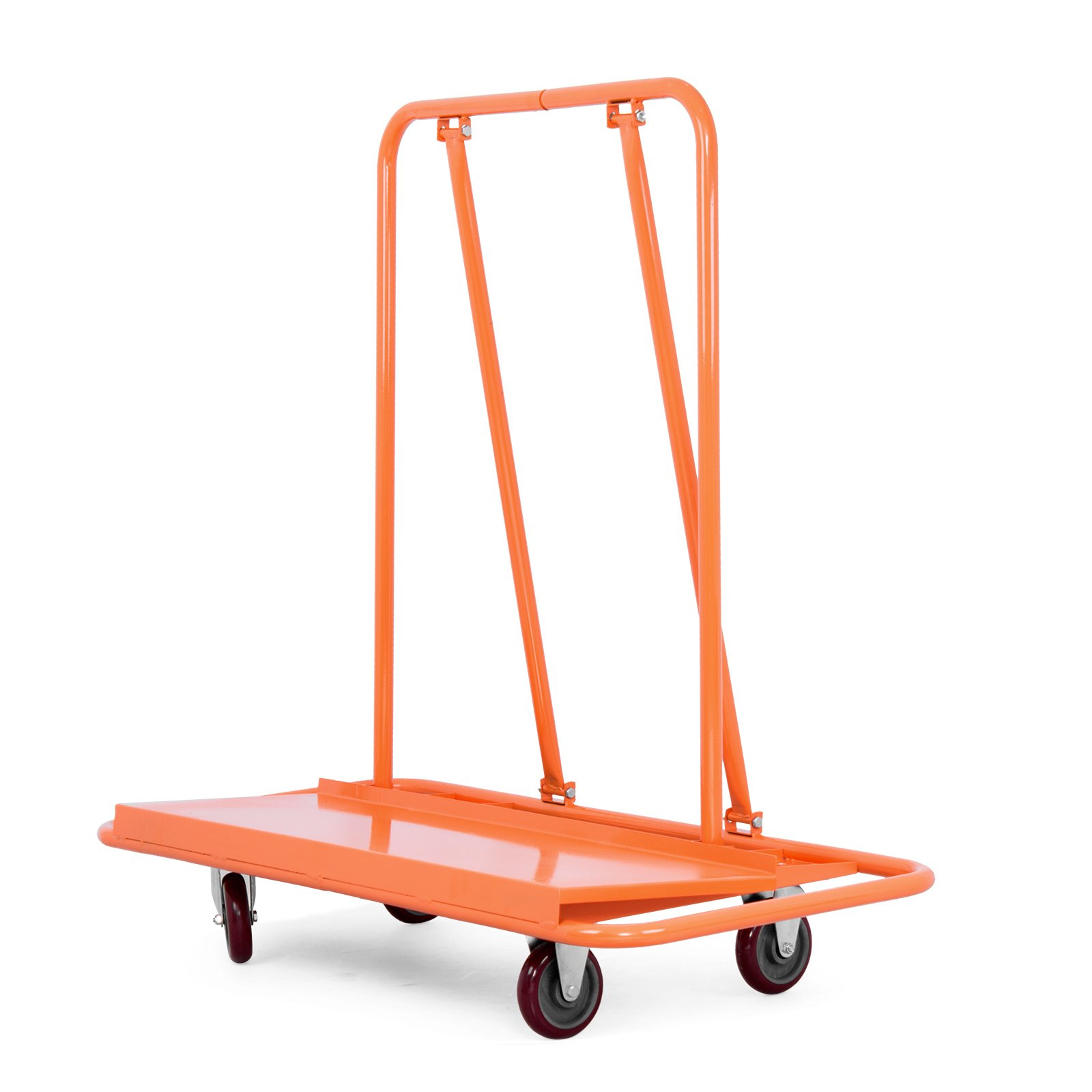 OrangeA Drywall Cart Dolly 2000LB Heavy Duty Sheetrock Panel Cart Professional Drywall Cart with 2 Fixed and 2 Swivel Heavy Duty Casters Plywood Dolly Panel Trolley Truck (2000Lbs Capacity)