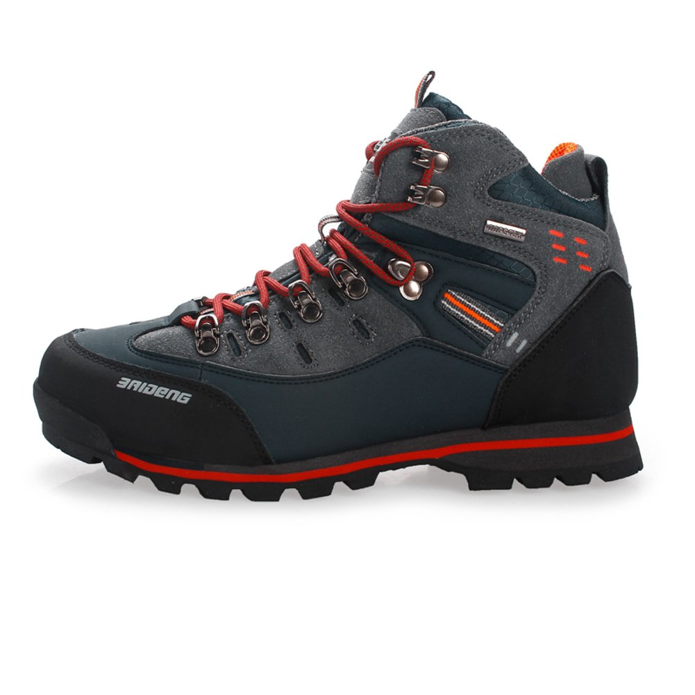 GOMNEAR Hiking Boots Mens Leather Breathable Climbing Mountain Athletic Shoes Fashion Sport Trekking Sneakers Casual Sneakers Hip Top Boots