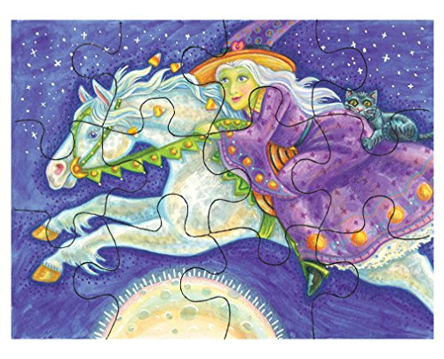 Style in Print Rider Witch White Horse Halloween Picture Jigsaw Puzzle Print 30 (Halloween Jigsaw Puzzles To Print)