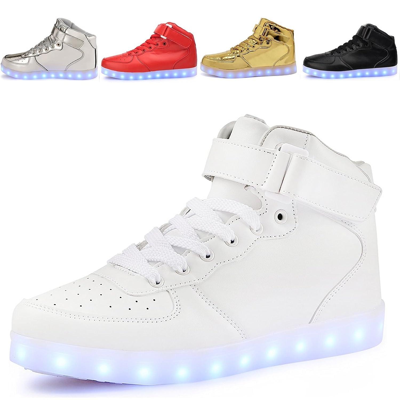 LED Chaussures Unisexe Haut-dessus Chargement USB Clignotant Chaussures de Sport  Pour Les Enfants Garcon Fille Baskets f2c38a0a350