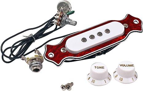 SUPVOX Guitarra de 4 cuerdas, perilla de volumen de sonido ...
