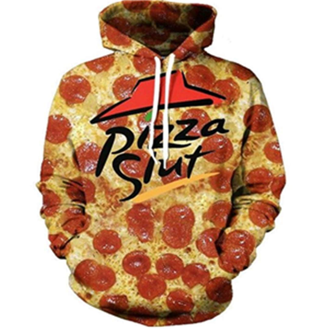 1 A&Zonger Pizza Slut 3D All All All Over Printed Hoodies Pockets Sweatshirt Food Hipster f943f4