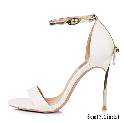 8caa60eef5d Image Unavailable. Image not available for. Color  Women Pumps Sandals  Black Ankle Strap Open Toe Bow High Heels