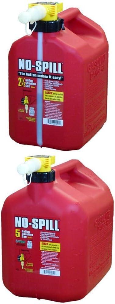 No-Spill 1405 2-1//2-Gallon Poly Gas Can