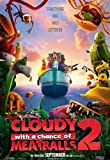 CLOUDY WITH A CHANCE OF MEATBALLS 2 MOVIE POSTER 1 Sided ORIGINAL Advance 27x40