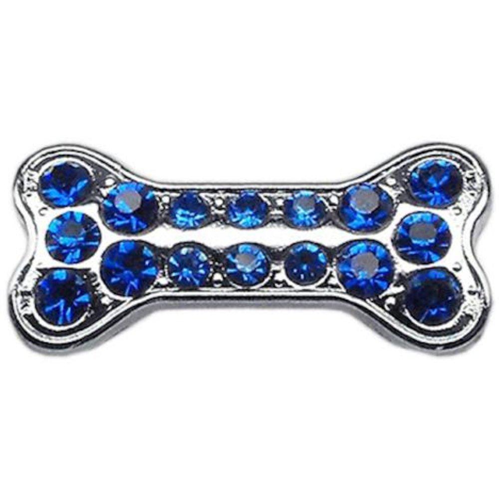 3 8  Slider Bone Charm Dark bluee 3 8