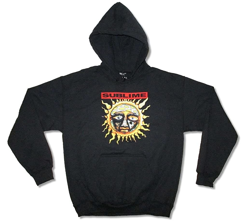 Sublime Logo on Red Black Pullover Hoodie Sweatshirt