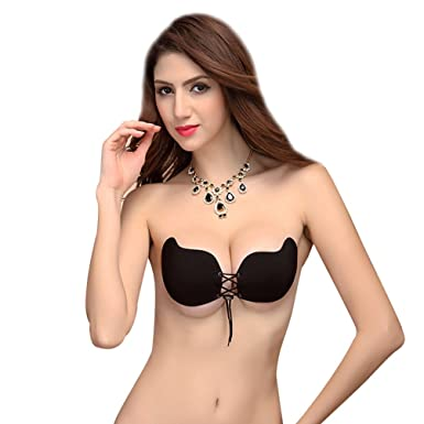 9519fd0865c90 Women Magic Self Adhesive Backless Strapless Bra Silicone Invisible  Drawstring Push Up Bras Demi Stick on Bra Breathable Seamless Upbra Gel  Bridal Corset ...