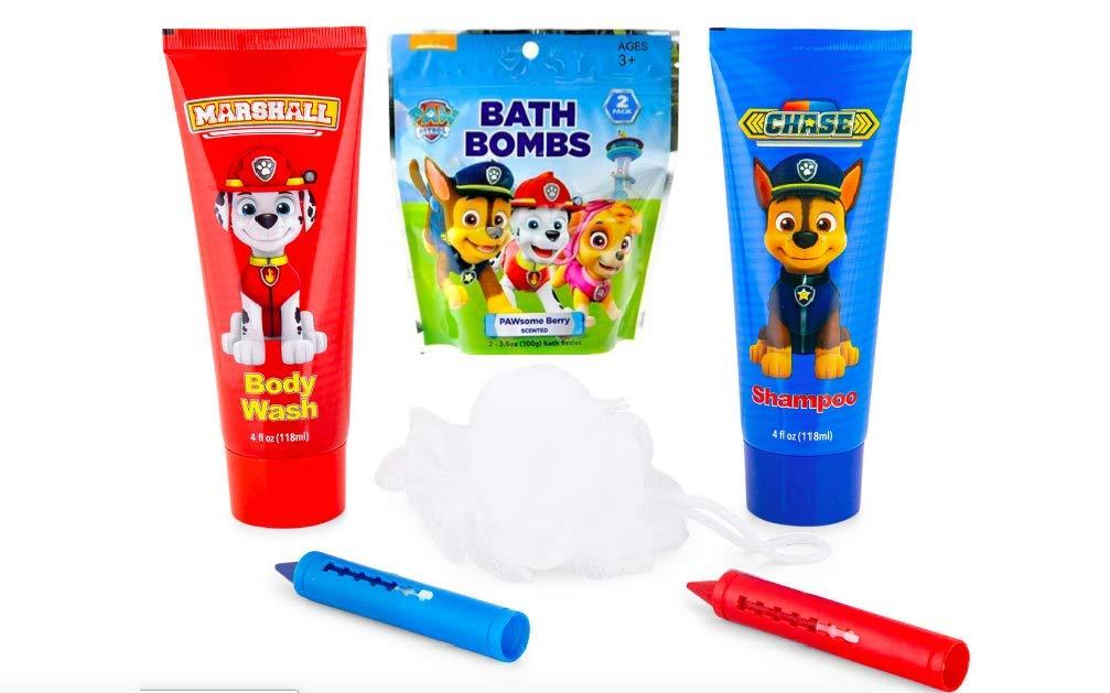 Pouf BCL Kids Paw Patrol Bath Set /& Bath Bombs Bath Crayons 2 Chase Shampoo Marshall Body Wash