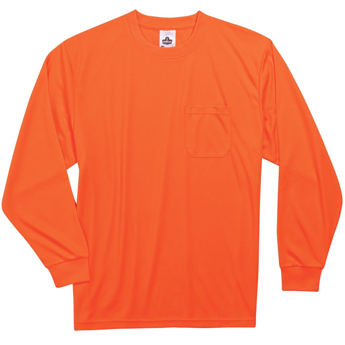 Ergodyne GloWear 8091 Non-Certified Long Sleeve High Visibility T-Shirt, 4X-Large, Orange