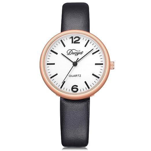 Unisex reloj de pulsera, zarupeng Mujeres Hombres Par Reloj analógico manecillas cuarzo pulsera Relojes runds toque minimalista piel sintética Cinturón ...
