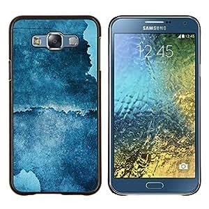 EJOOY---Cubierta de la caja de protección para la piel dura ** Samsung Galaxy E7 E700 ** --Resumen Grunge azul