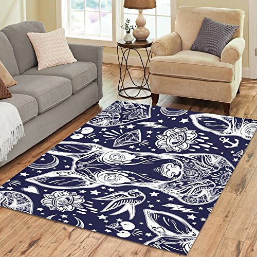 Cheap Modern Collection Custom Indoor Soft Carpet Area Rug 7′ x 5′ Bull Terrier Dog
