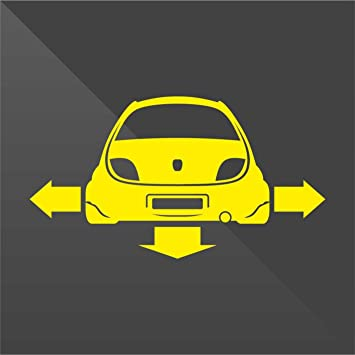 Erreinge Sticker Ford Ka Giallo Yellow Jaune Amarillo Gelb Down And Out Dub Decal Cars